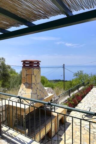 aurora lefkada villa bbq with sea view