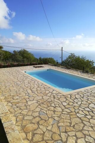 aurora lefkada villa pool