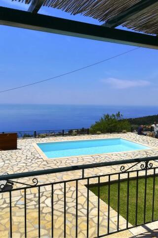 aurora lefkada villa swimming pool